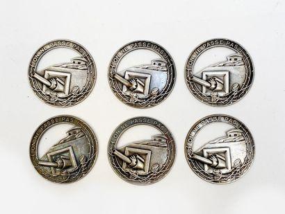 Lot de 6 insignes de la ligne Maginot «On...