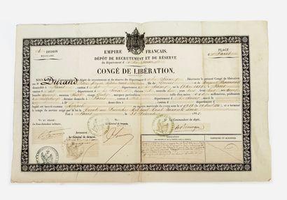 Congé de Libération époque Second Empire...