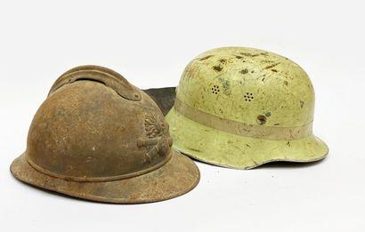 Coque de casque adrian et casque pompier
