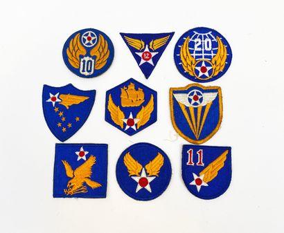 USA: Collection de 9 Patch d'uniforme de...
