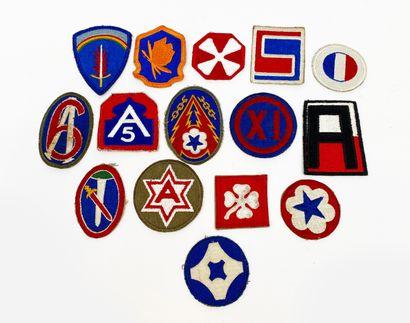 USA: Collection de 15 patch d'uniforme ...