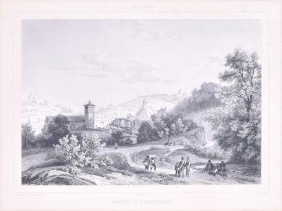 Ecole française du XIXe siècle L'église...