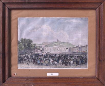 Ecole française du XIXe siècle Place Bellecour....