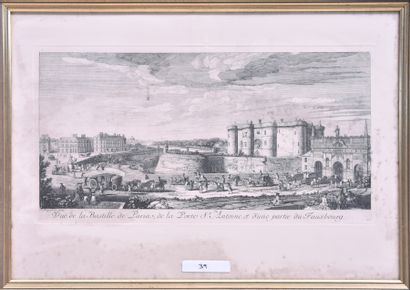Jacques RIGAUD (France, XVIIIe siècle) Vue...