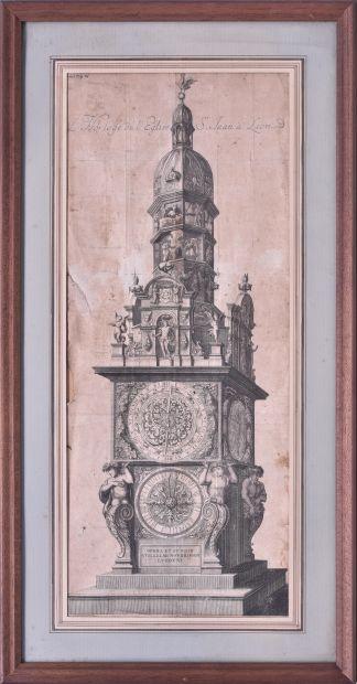 France XVIIe siècle Horloge de la cathédrale...