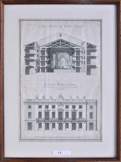 ANONYME (France, XVIIIe siècle) Coupe et...
