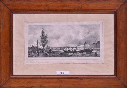 Antoine GUINDRAND (1801-1843) Quai de l'Hôpital....