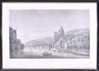 Benedict PIRINGER (1780 - 1826) Vue de Pierre...