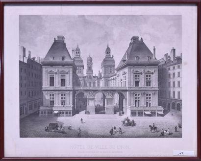 Ecole française du XIXe siècle Vue de l'entrée...