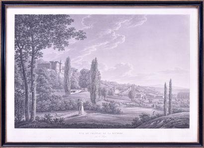 Benedict PIRINGER (1780 - 1826) Vue du château...