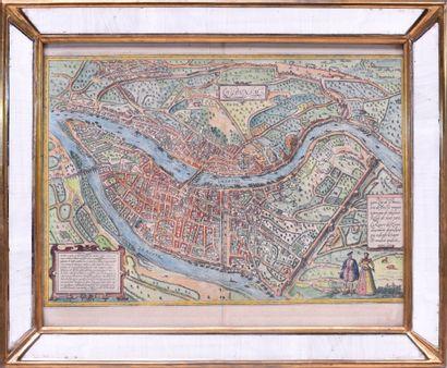 BRAUN & HOGENBERG (XVIe siècle) Vue de la...