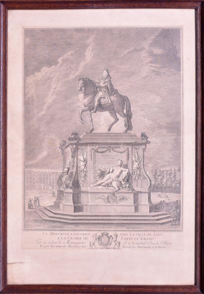 Jean AUDRAN (1667 - 1756) «Ce monument...
