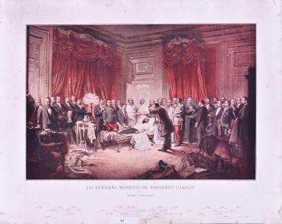 Les derniers moments du président Carnot...