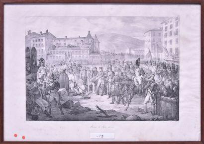Victor ADAM (1801-1866) Ruines de Lyon relevées...