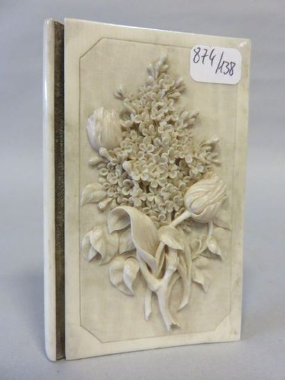 Round ivory bumpy ivory ball book case with...