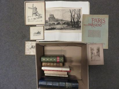 Book lever and five engravings on Paris.