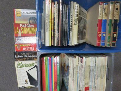 Deux manettes de BD : Tintin, Chevalier ardent,...