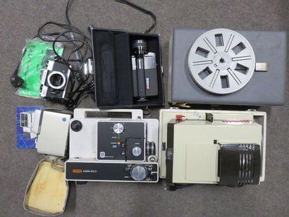 Manette de projecteurs, flash, caméra Sankyo...