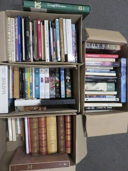 Quatre manettes de livres d'art et diver...