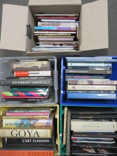 Cinq manettes de livres d'art et divers.