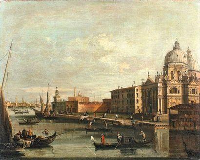 Une huile sur toile de l'école vénitienne...