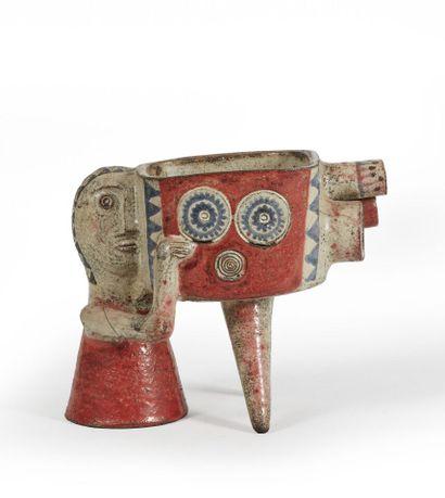 Jean DERVAL (1925-2010).  La cinéaste.  Sculpture...