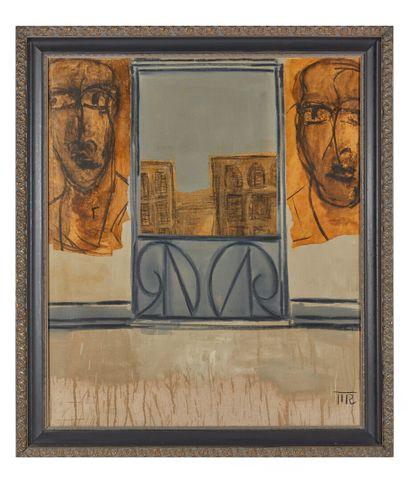 Mark REICHERT (1948).  Balcony window n°5....