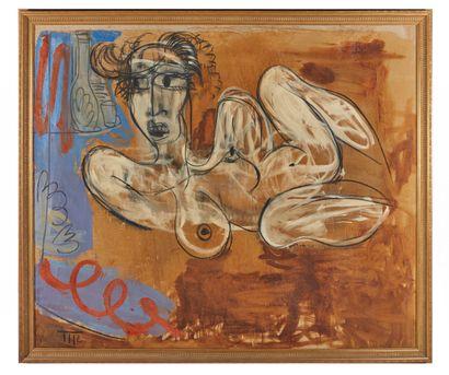 Mark REICHERT (1948).  Sucubus.  Huile sur...