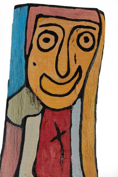 Gaston CHAISSAC (1910-1964)  Totem, vers 1961-1962.  Composition aux deux visages...
