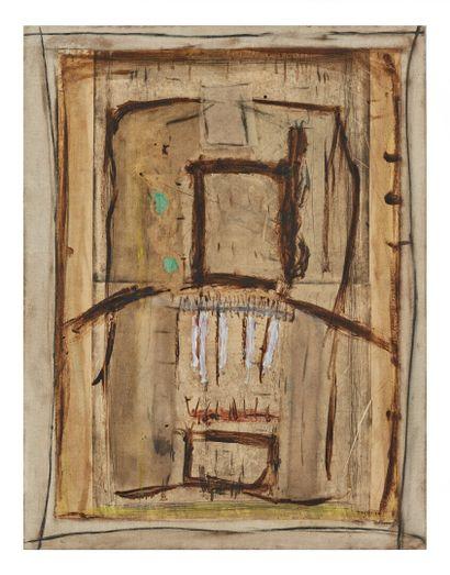 Didier HAGEGE (1961).  Composition.  Huile...