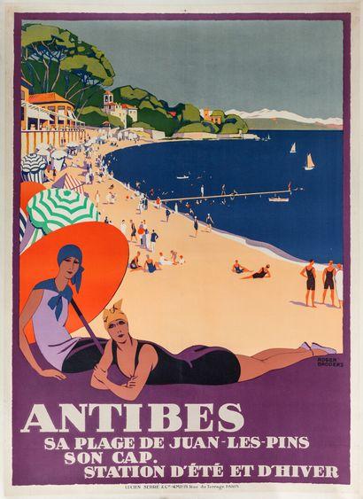 Roger BRODERS (1883-1957), d'après.  ANTIBES....