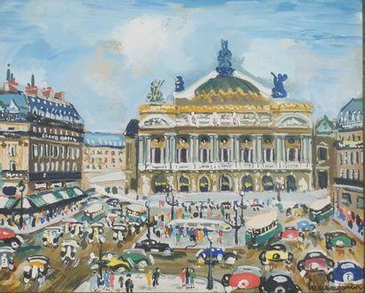 Lucien GENIN (1894-1953).  Paris, avenue...