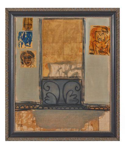 Mark REICHERT (1948).  Balcony window n°4....