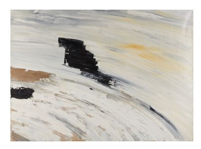 Mirna KRESIC (1958).  Composition.  Acrylique...