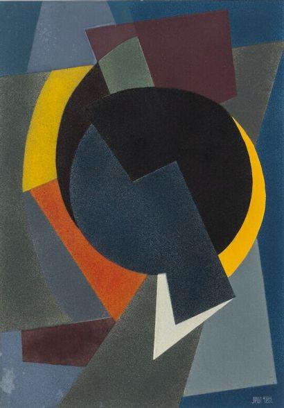 Jean RETS (1910-1998).  Composition.  Gouache...