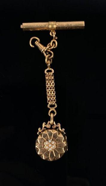 Elément de châtelaine, pour chaine de montre,...