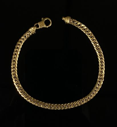 Bracelet en or jaune.  L_18,2 cm.  5,65 grammes,...