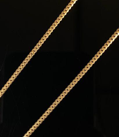 Chaine en or jaune.  L_42 cm.  6,67 grammes,...