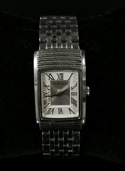 MAUBOUSSIN.  Bracelet-montre de dame