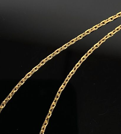 Chaine en or jaune.  L_50,5 cm.  7,46 grammes,...