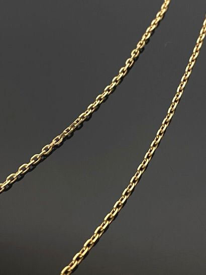 Chaine en or jaune.  L_58 cm.  9,06 grammes,...
