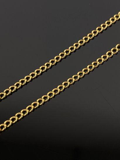 Chaine en or jaune.  L_56 cm.  6,14 grammes,...