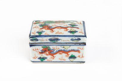 CHINE, style Wanli.  Boîte rectangulaire...