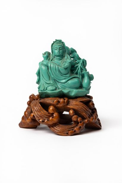 CHINE, dynastie Qing (1644-1911).  Statuette...