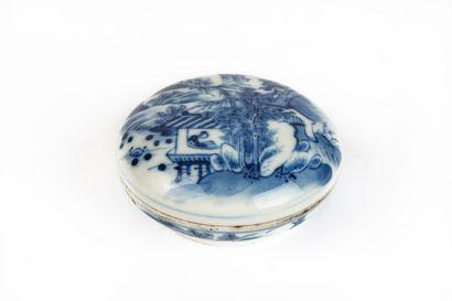 CHINE, fin du XIXème siècle.  Boîte lenticulaire...