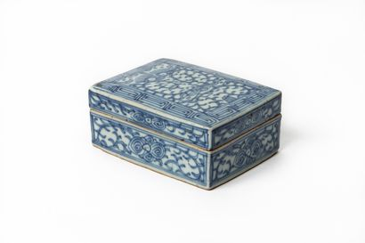 CHINE, vers 1900.  Boîte rectangulaire en...