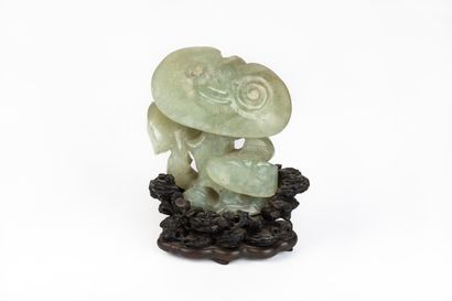 CHINE, dynastie Qing (1644-1911).  Sculpture...
