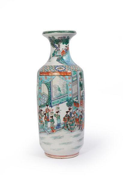 CHINE, fin du XIXème siècle.  Important vase...