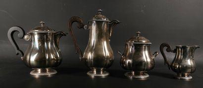 BOULENGER.  Service à thé et café en argent...