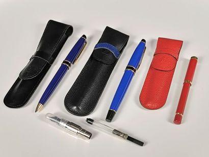 WATERMAN.  Ensemble de trois stylos, dans...